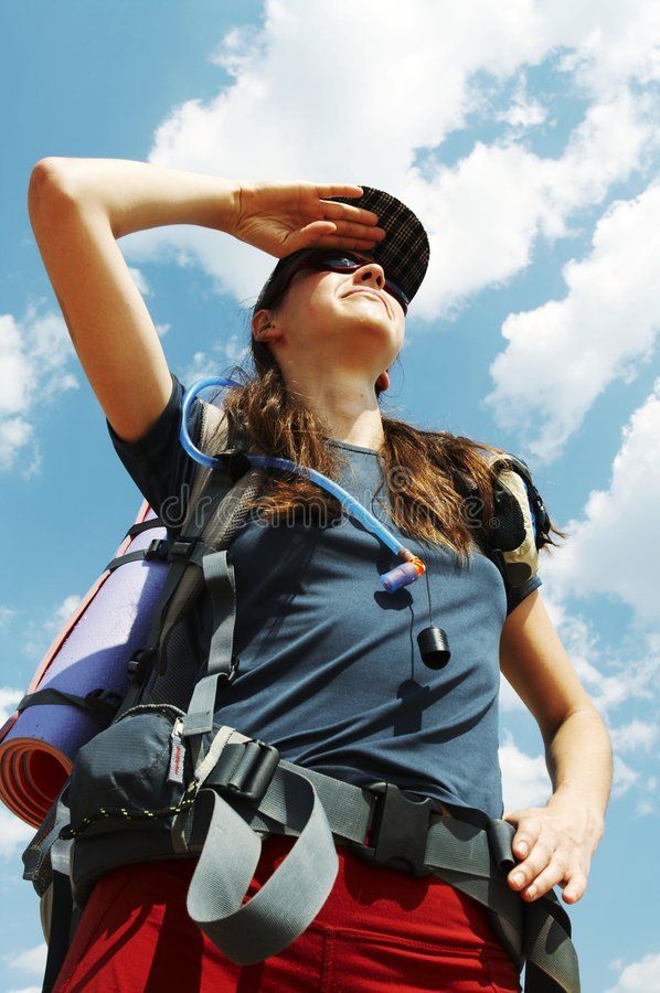 Download Girl in hike stock photo. Image of hike, hiking, park - 3070784