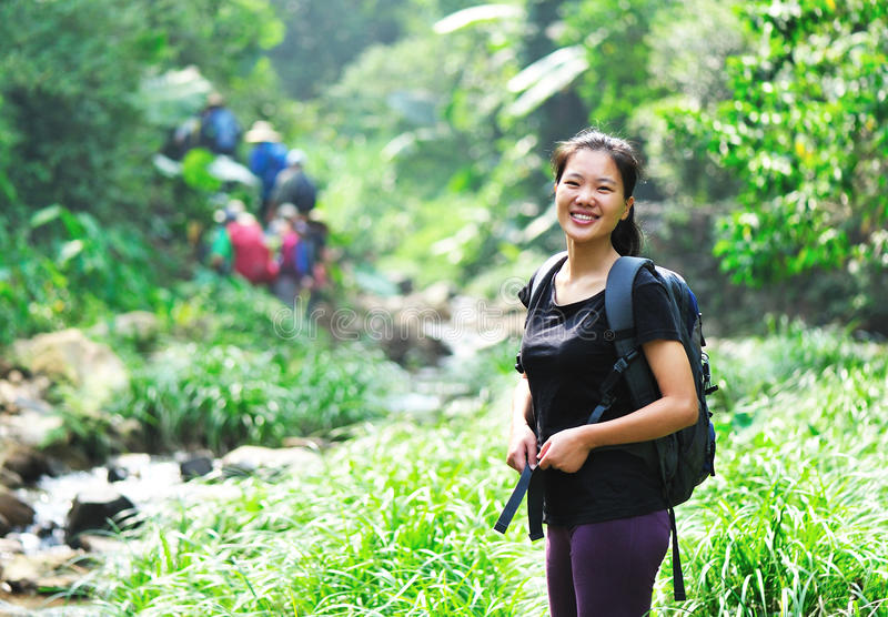 Download Girl hiking stock photo. Image of color, active, casual - 27113152