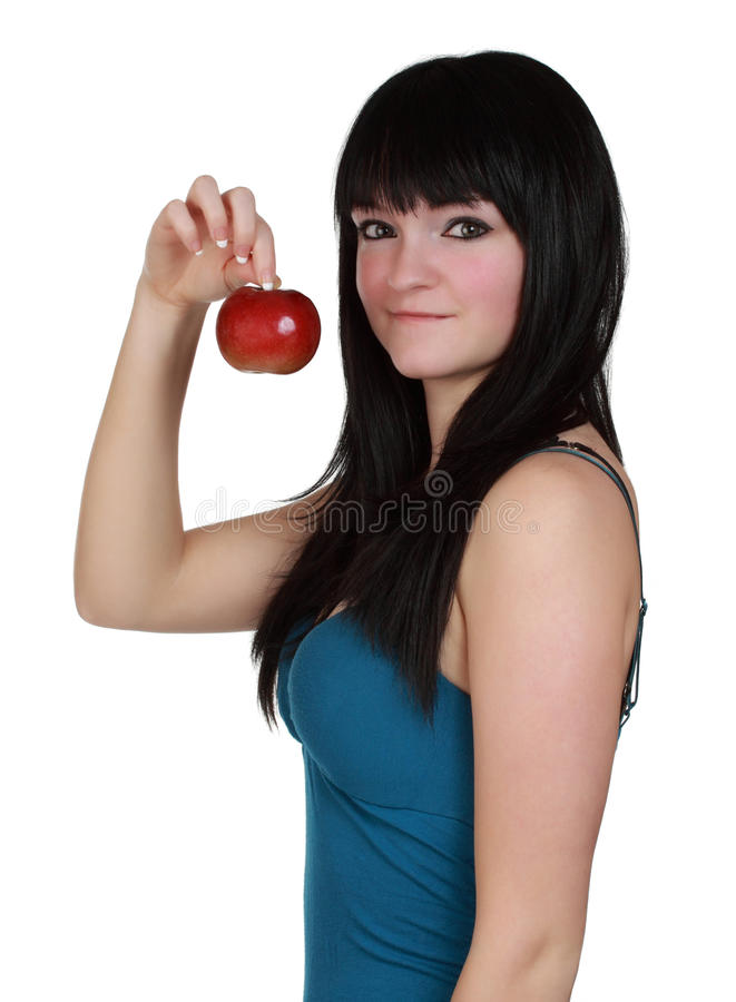 Download Girl holdign an apple stock image. Image of food, female - 17398163