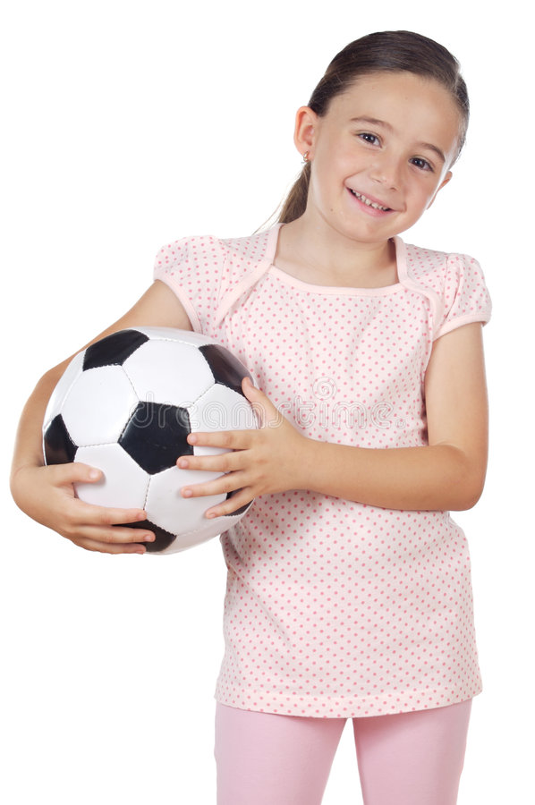 Free Girl Holding A Soccer Ball Royalty Free Stock Photos - 3786478