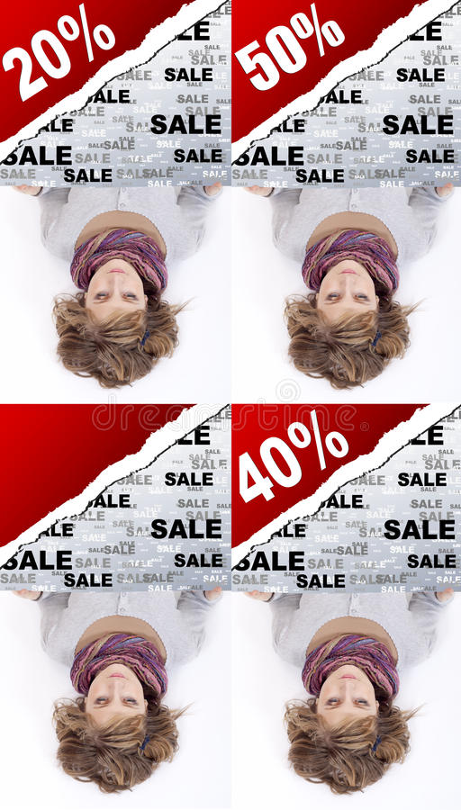 Download Girl Holding Advertising Banner Stock Images - Image: 23290004