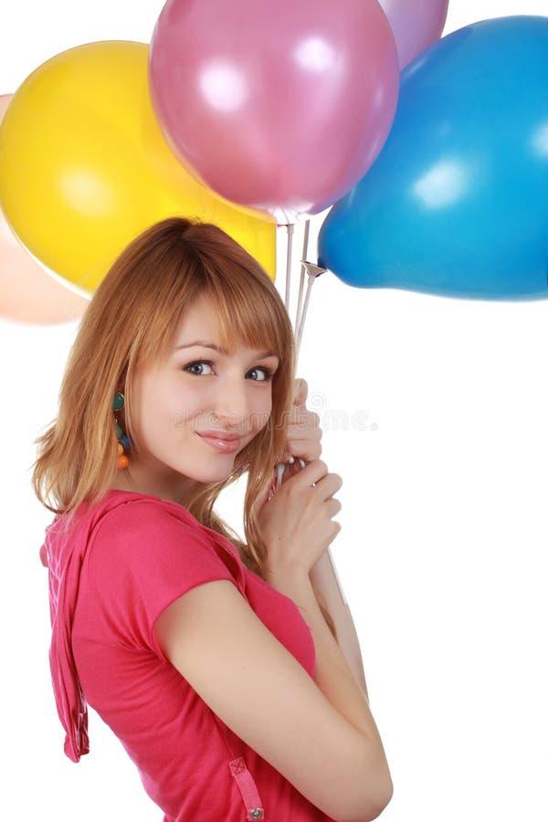 Download Girl holding air balloon stock photo. Image of balloon - 12619046