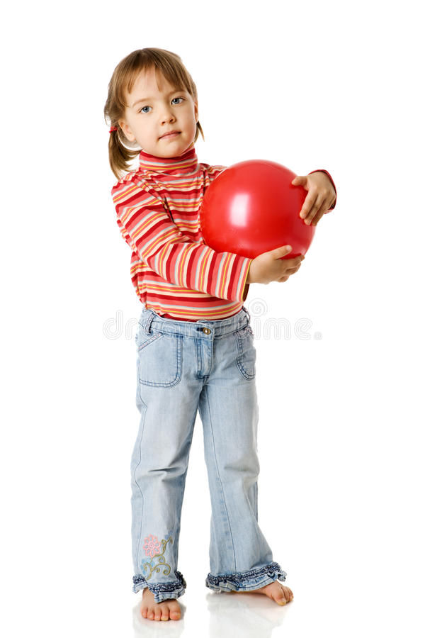 Download Girl holding ball stock image. Image of blond, evergy - 18453343