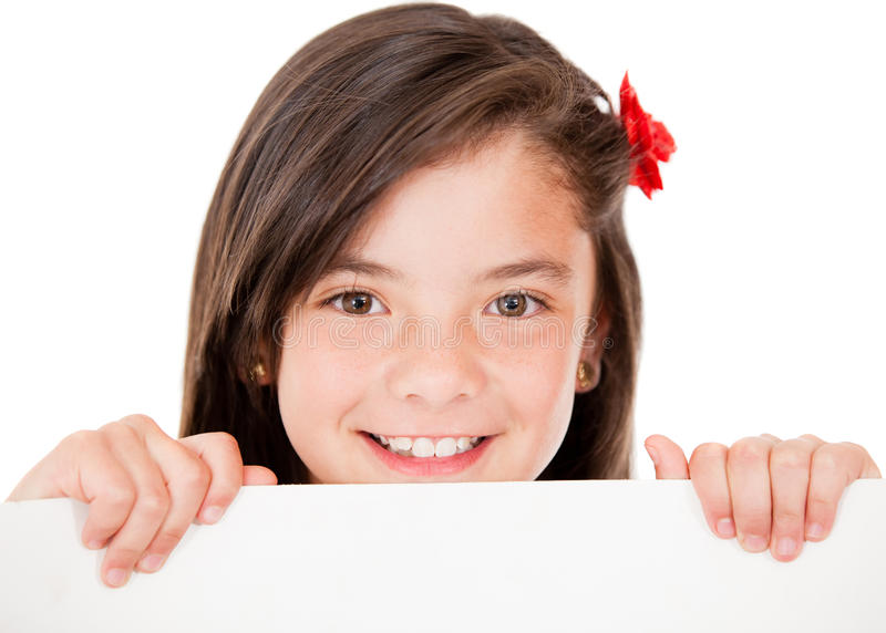 Download Girl holding a banner stock image. Image of gorgeous - 24917095
