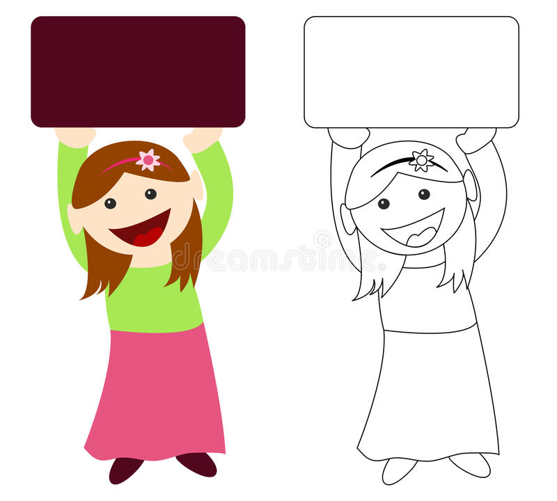 Download Girl Holding Blank Sign Stock Image - Image: 13172701