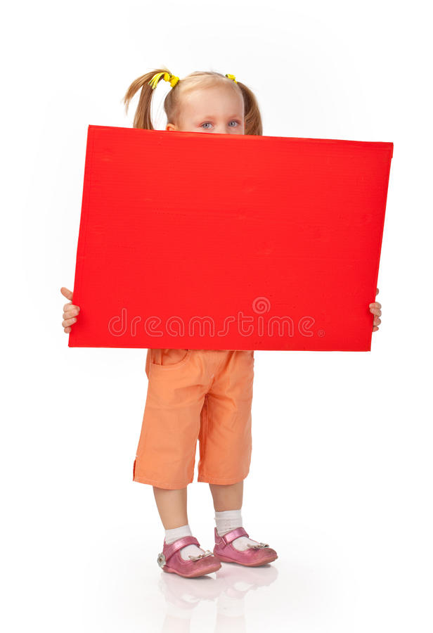 Download Girl holding blank sign stock image. Image of backgrounds - 13422187