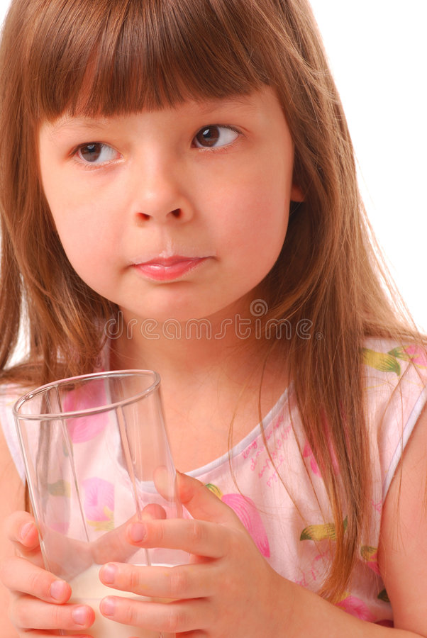 Download Girl holding glass of milk stock image. Image of baby - 2190001