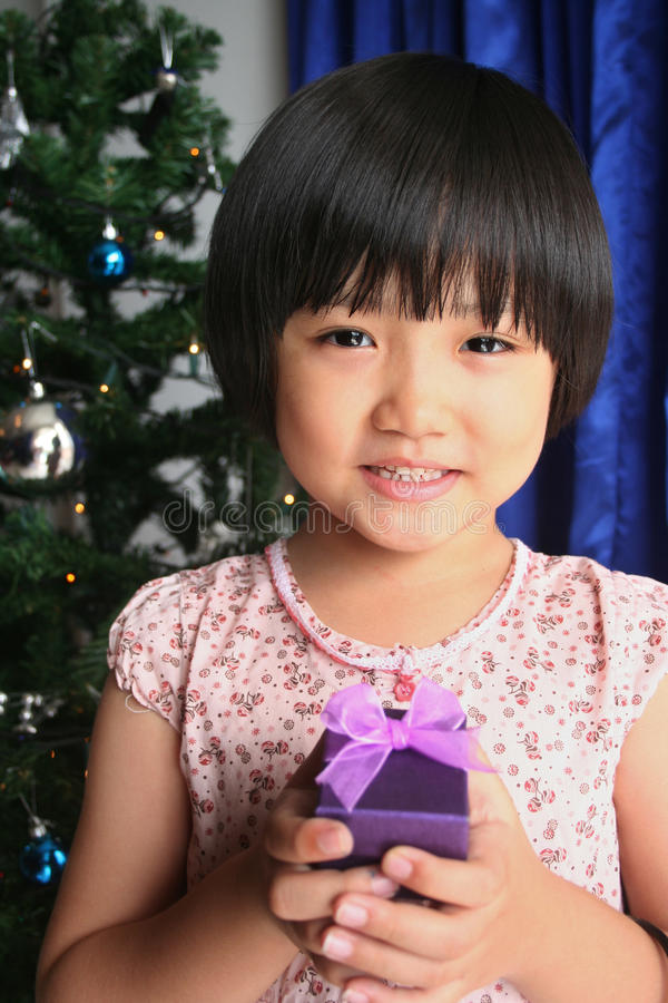 Download Girl holding present stock photo. Image of rewards, girl - 12691334