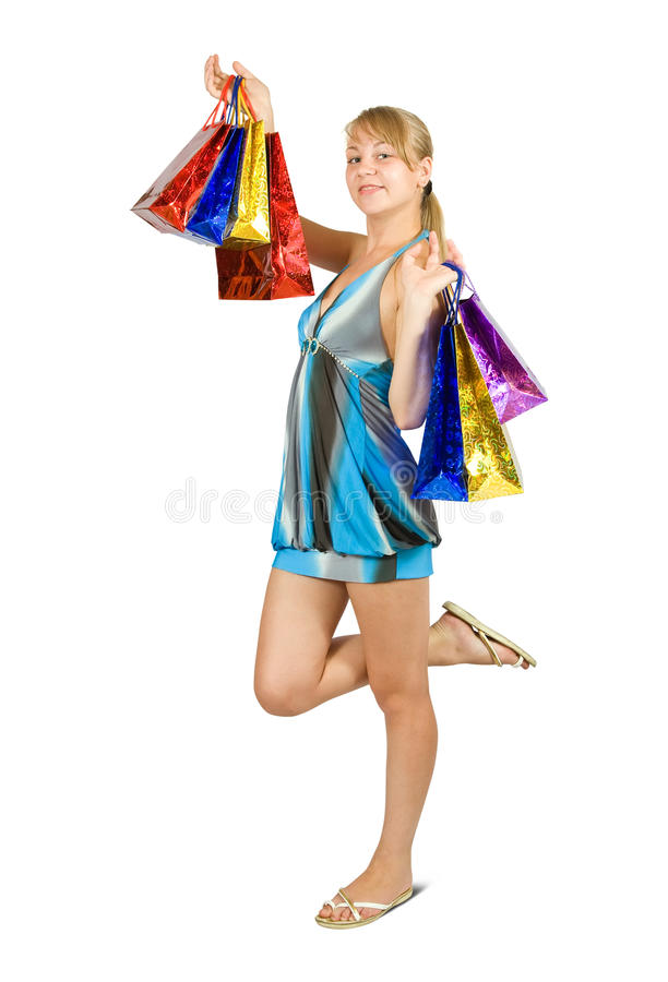 Download Girl Holding Shopping Bags. Stock Photo - Image: 15544534