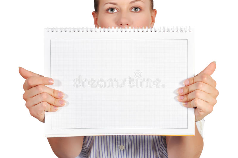 Download Girl holdng note pad stock photo. Image of attractive - 31805228