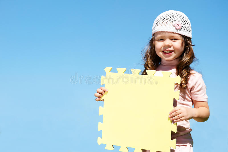 Download Girl holds a poster stock image. Image of lookin, person - 13578257