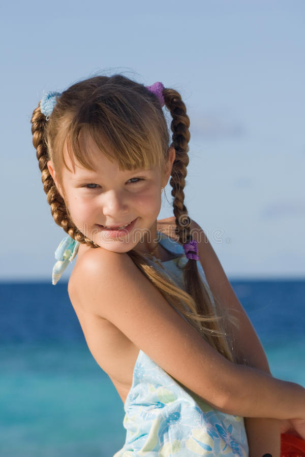 Girl on holiday royalty free stock photos