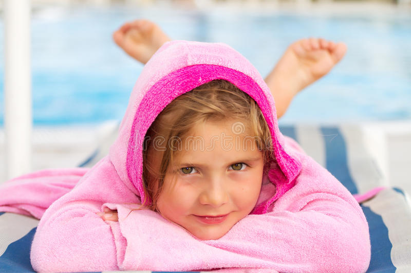Download Girl on holiday stock photo. Image of comfortable, cushion - 24259862