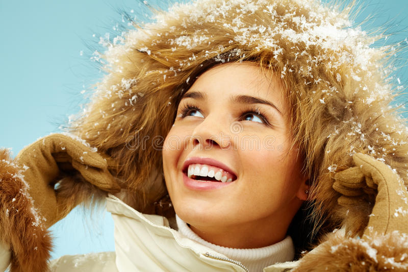 Download Girl in hood stock image. Image of beautiful, makeup - 25442885