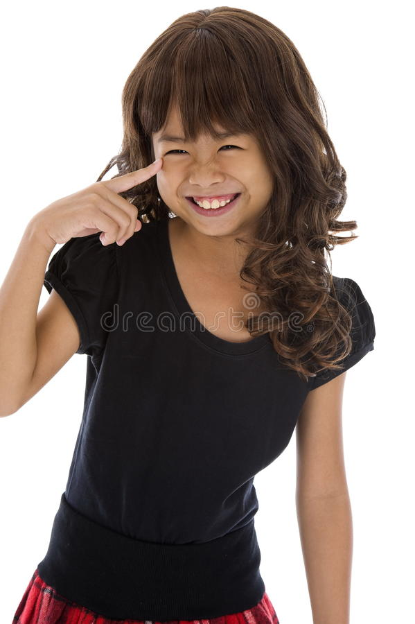 Download Girl with a huge smile stock photo. Image of pretty, cute - 16629440