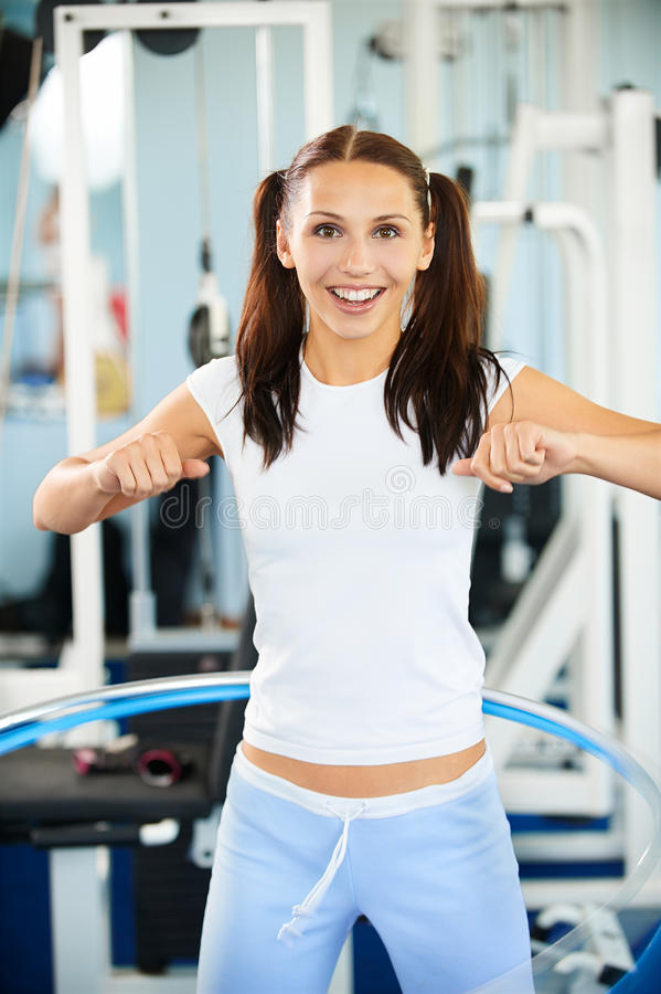 Download Girl with hula hoop stock photo. Image of people, expression - 15795238