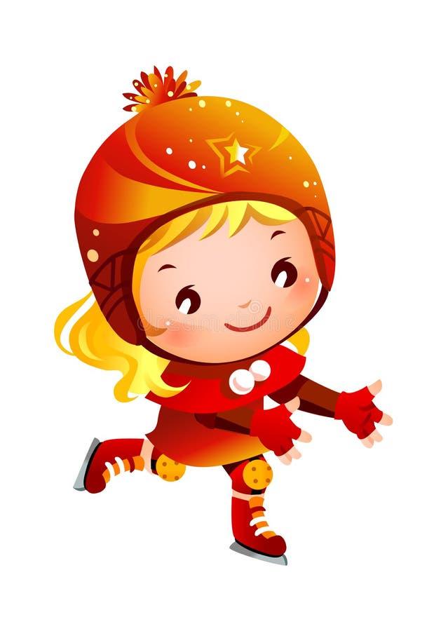 Download Girl on ice skate stock vector. Illustration of full - 27009127
