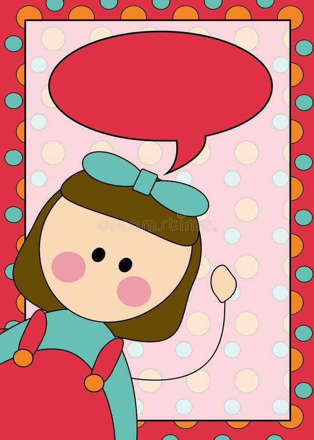 Download Girl illustration stock illustration. Illustration of bordered - 15757395