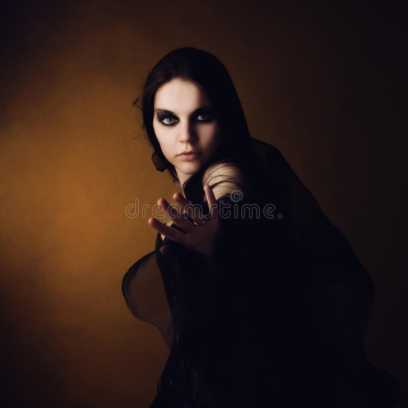 Download Girl In An Image Of A Witch Stock Photo - Image of magic, gothic: 15085710