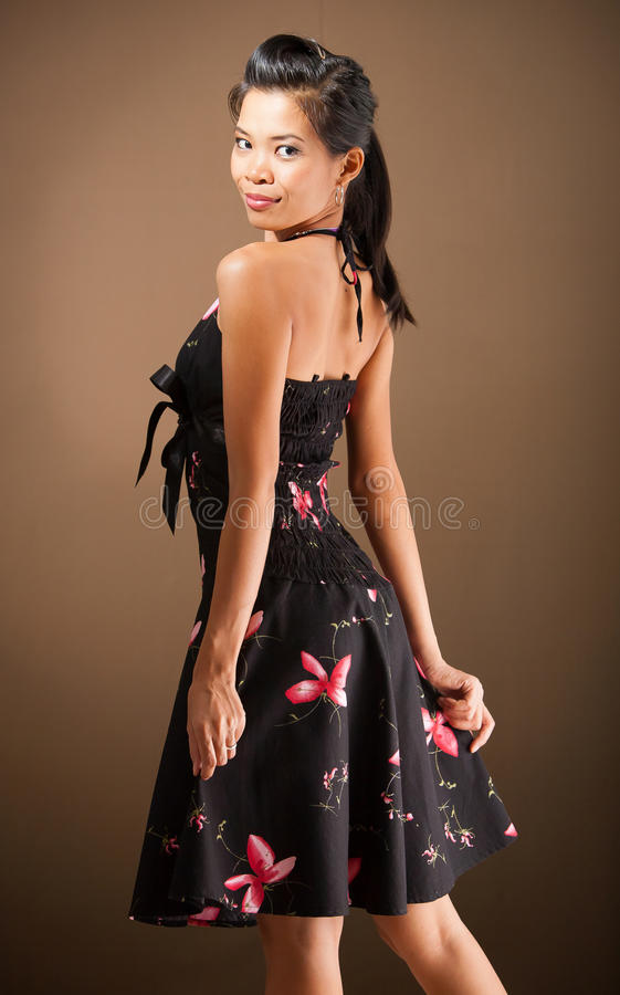 Free Girl In A Dress. Royalty Free Stock Image - 42156906