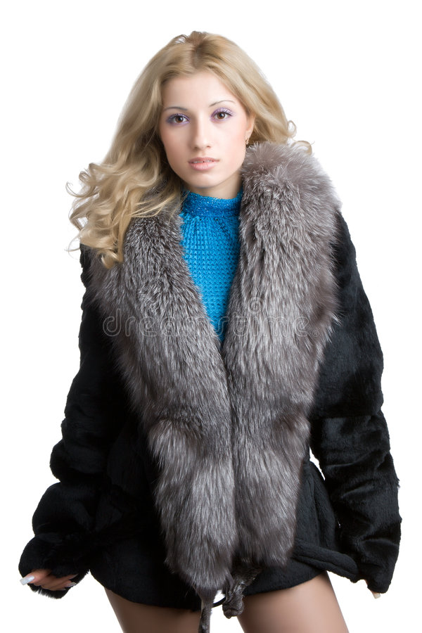 Free Girl In A Fur Royalty Free Stock Photo - 4228995