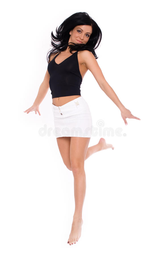 Free Girl In Air Royalty Free Stock Image - 10225186