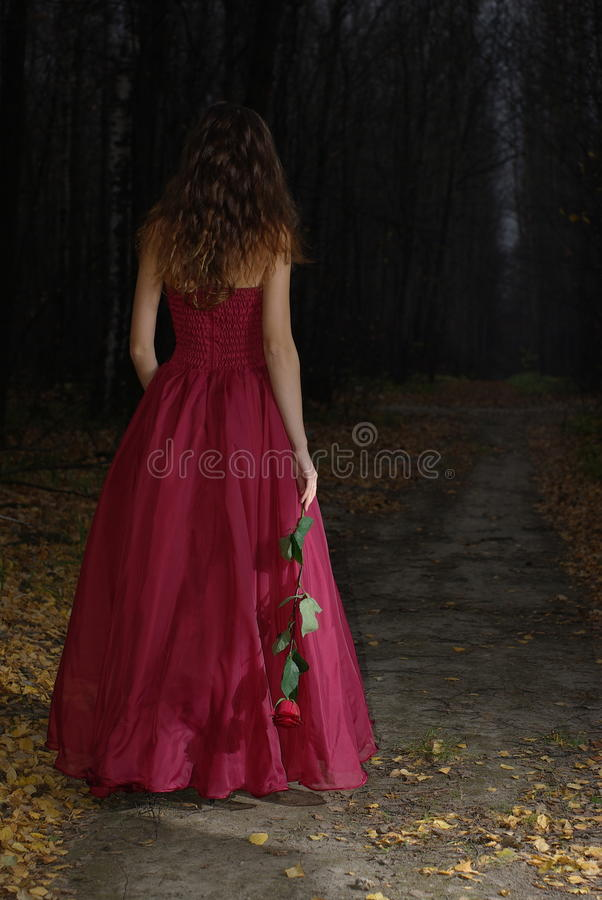 Free Girl In Autumn Forest Royalty Free Stock Images - 23272639