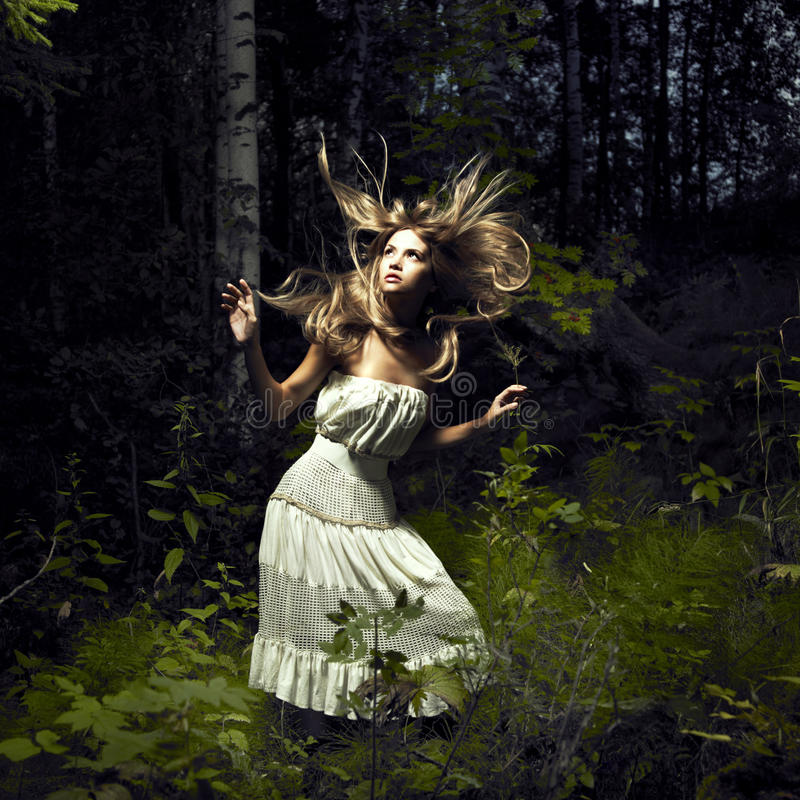 Free Girl In Fairy Forest Royalty Free Stock Photos - 15800948
