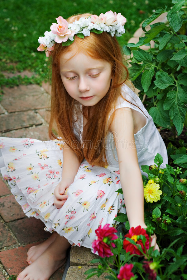 Free Girl In Garden 2 Stock Photography - 2836132