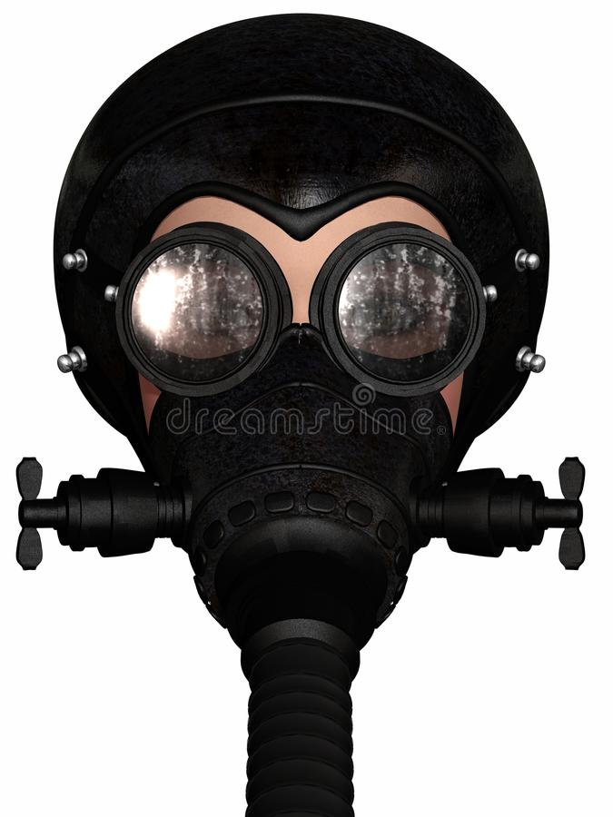 Free Girl In Gasmask Stock Photography - 19894222