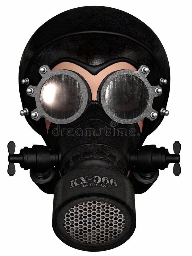 Free Girl In Gasmask Royalty Free Stock Photography - 19894247