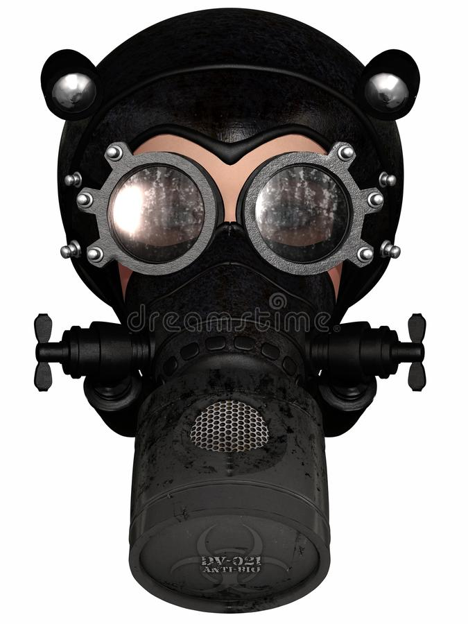 Free Girl In Gasmask Stock Images - 19894274