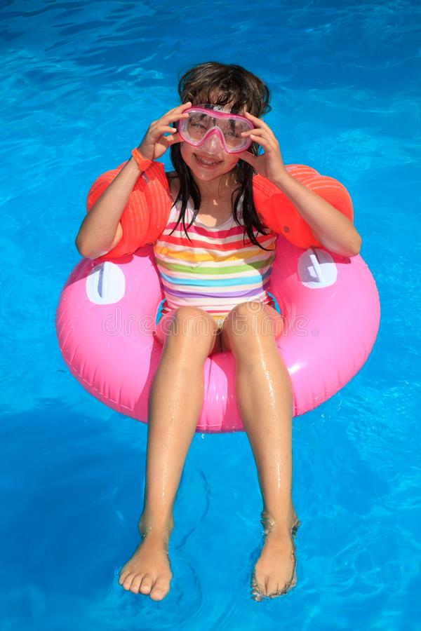 Free Girl In Inflatable Ring Royalty Free Stock Images - 10996609