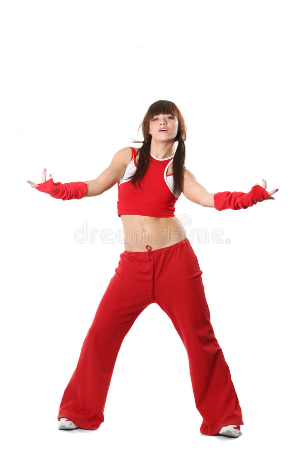 Free Girl In Red Clothes Royalty Free Stock Photo - 4381855
