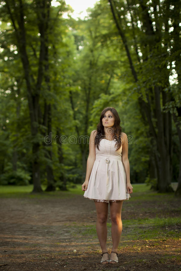 Free Girl In Scary Forest Stock Images - 24875984