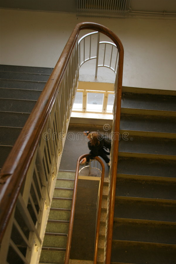 Free Girl In School Staircase Royalty Free Stock Images - 4257919