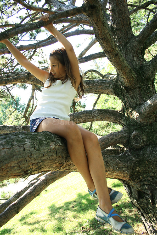 Free Girl In Tree Stock Photography - 6440032
