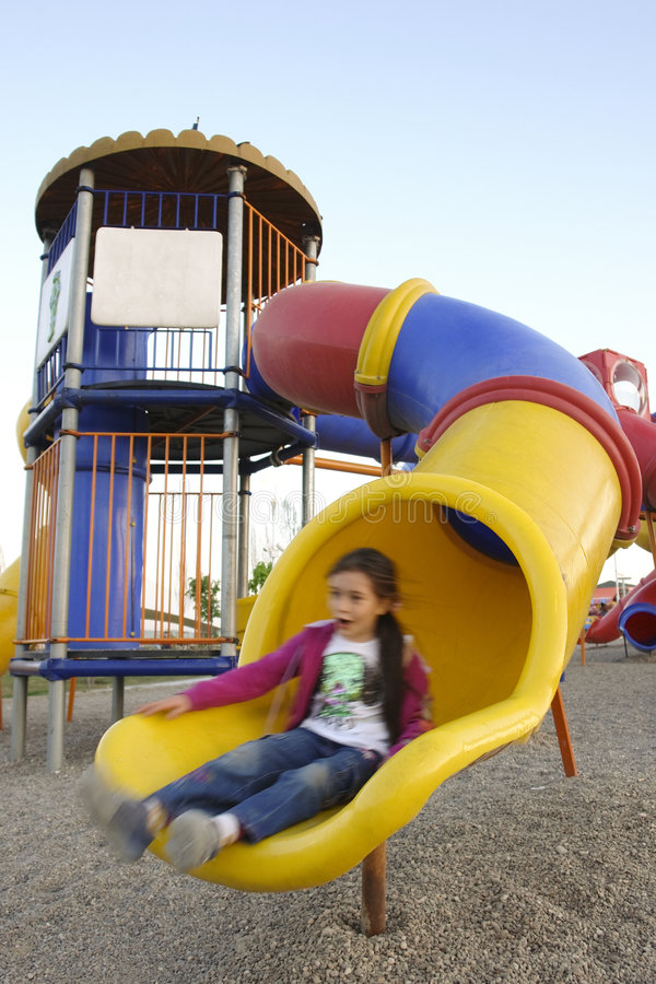 Free Girl Is In Playground Stock Photography - 5401092