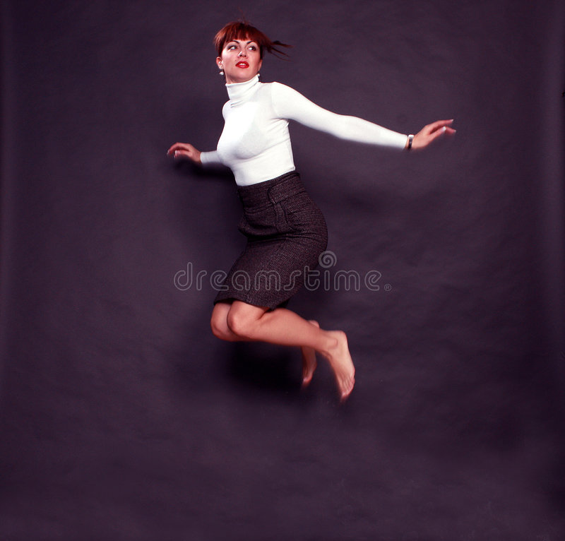 Free Girl Is Jumping Royalty Free Stock Images - 7273359