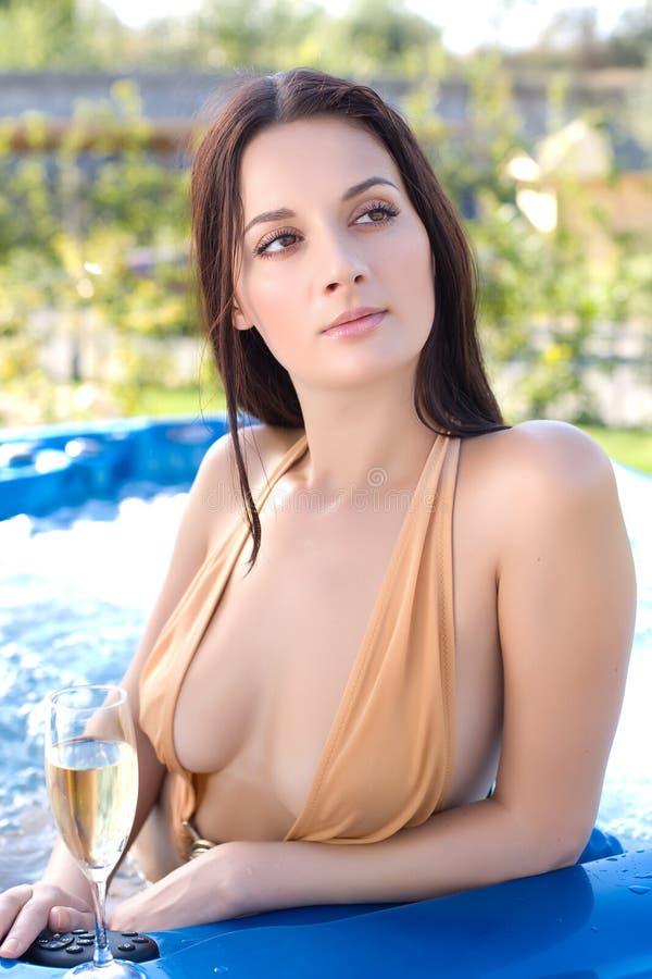 girl jacuzzi sensual στοκ εικόνες με δικαίωμα ελεύθερης χρήσης