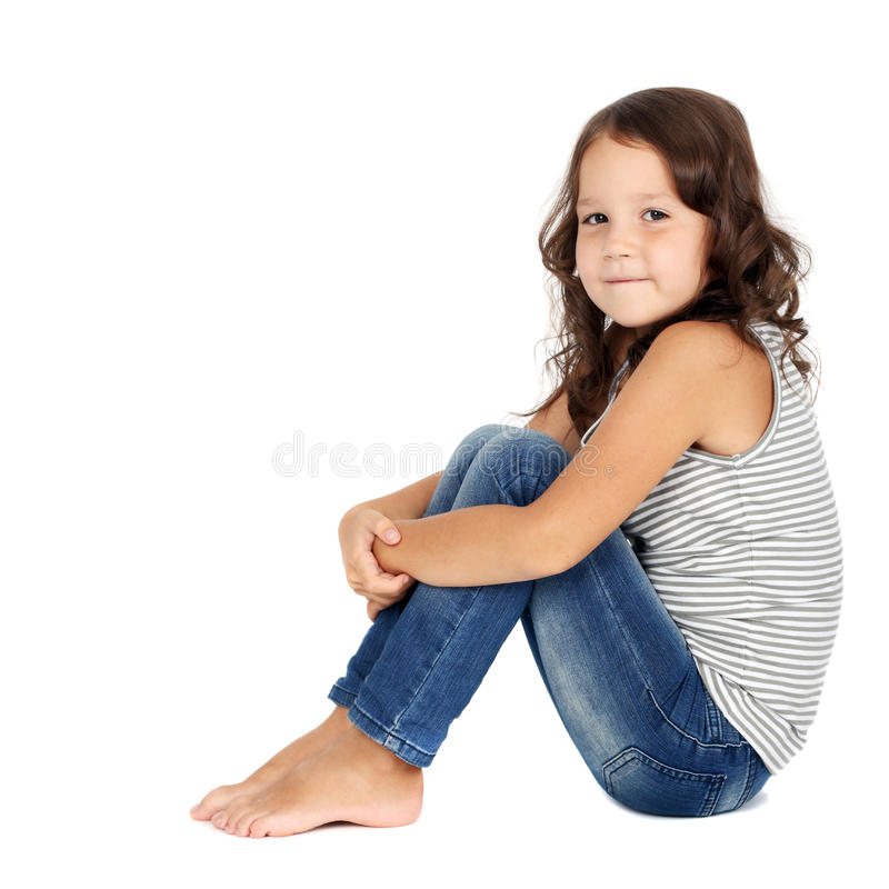 Girl in jeans stock photography
