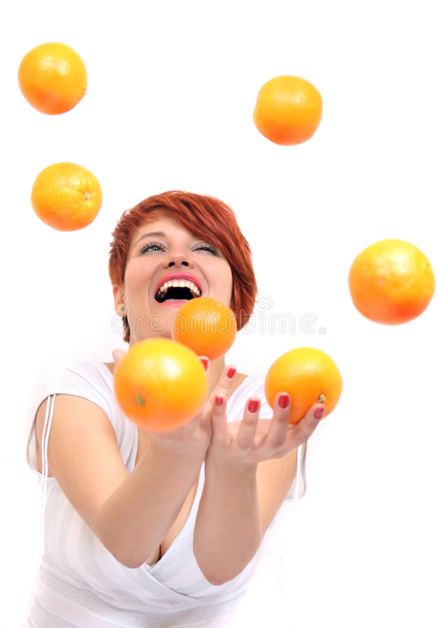 Free Girl Juggling Orange Royalty Free Stock Photography - 6798397