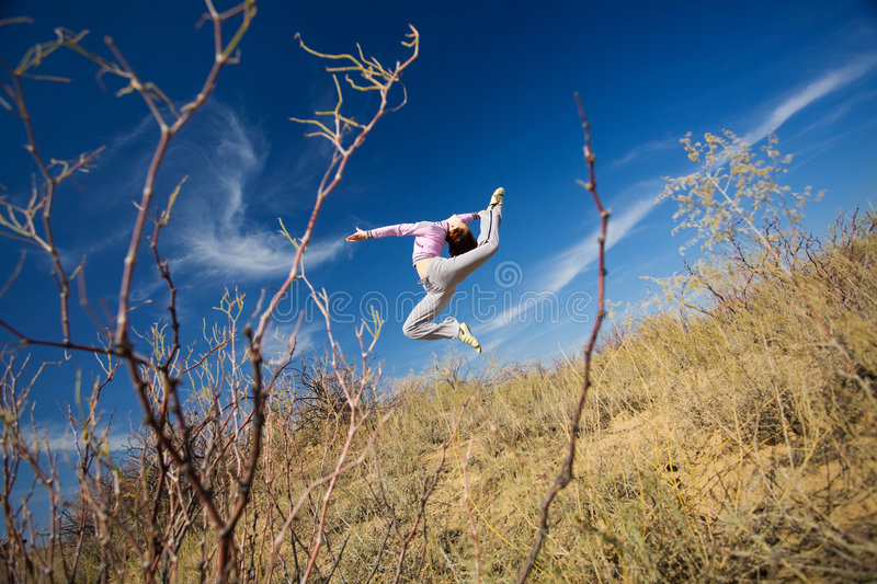 Download Girl jump stock image. Image of action, beautiful, fitness - 9183113