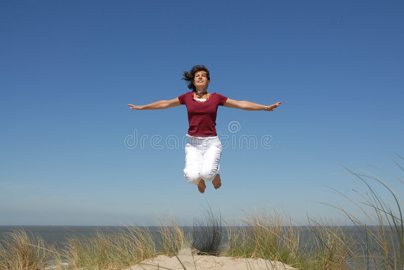 Download Girl jumping stock image. Image of freedom, lifestyle - 2494009