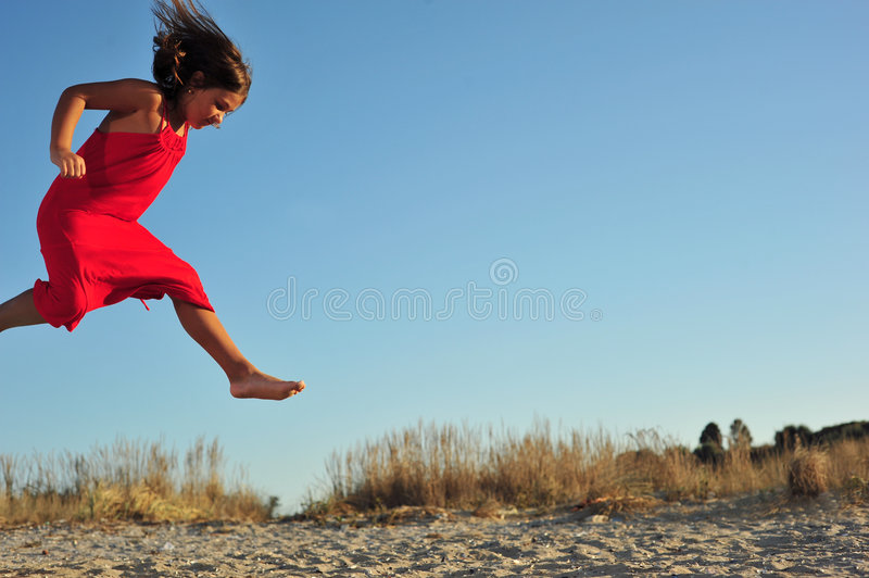 Download Girl jumping stock photo. Image of mystery, grace, pureness - 6763040
