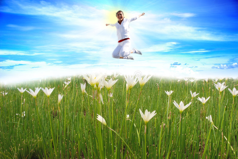 Download Girl Jumping stock photo. Image of fresh, colorful, natural - 7630746