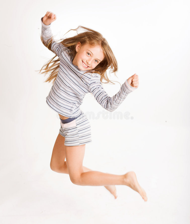 Free Girl Jumping Of Joy Royalty Free Stock Images - 6249869