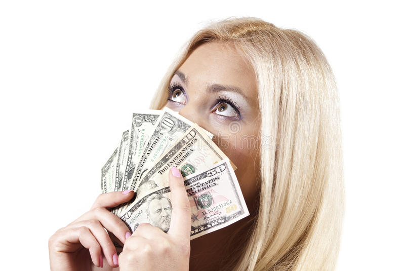 Girl Keeps The Money Stock Image Of Female People