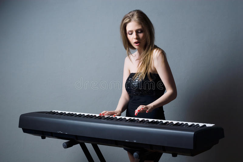 Download Girl with keyboard stock photo. Image of occupation, caucasian - 22812908