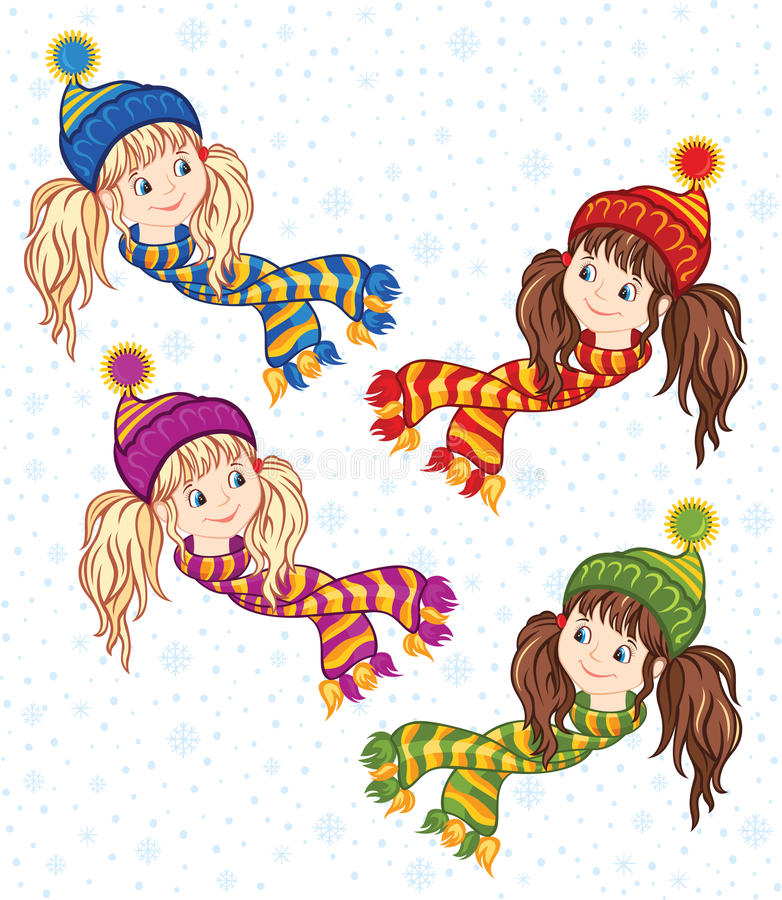 Red White Scarf Comic Childrens Adults Stripe Knitted Character Book Winter